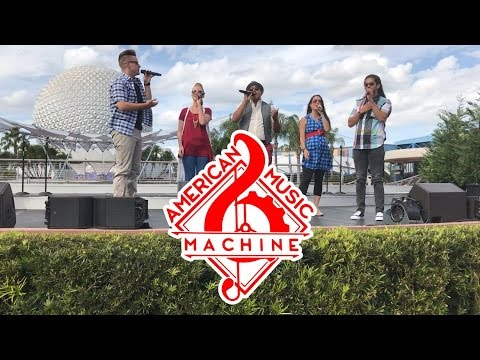 American Music Machine  - A Cappella Show HD , Epcot March 2017, Walt Disney World - AMB FAMILY TRIP
