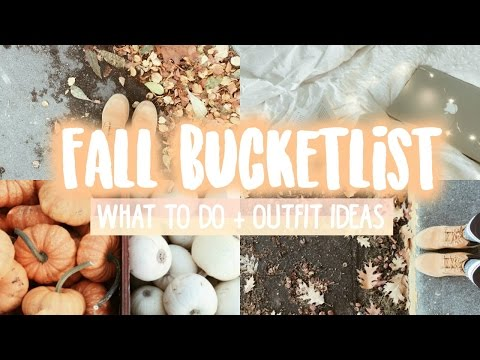 Fall Bucketlist 2016! Fun tumblr things to do this autumn-outfits, activities and inspiration!