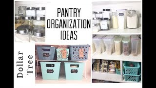 Dollar Tree Pantry Organization Ideas |  Organize With Me | momma from scratch