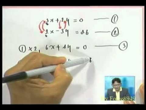 ติวเต็มพิกัด ม ต้น คณิตศาสตร์ 12 ระบบสมการเชิงเส้น Force8949