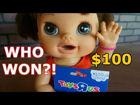 BABY ALIVE Who Won The Giveaway For $100 Toys R Us?!! Pumpkin And Barbie Swim