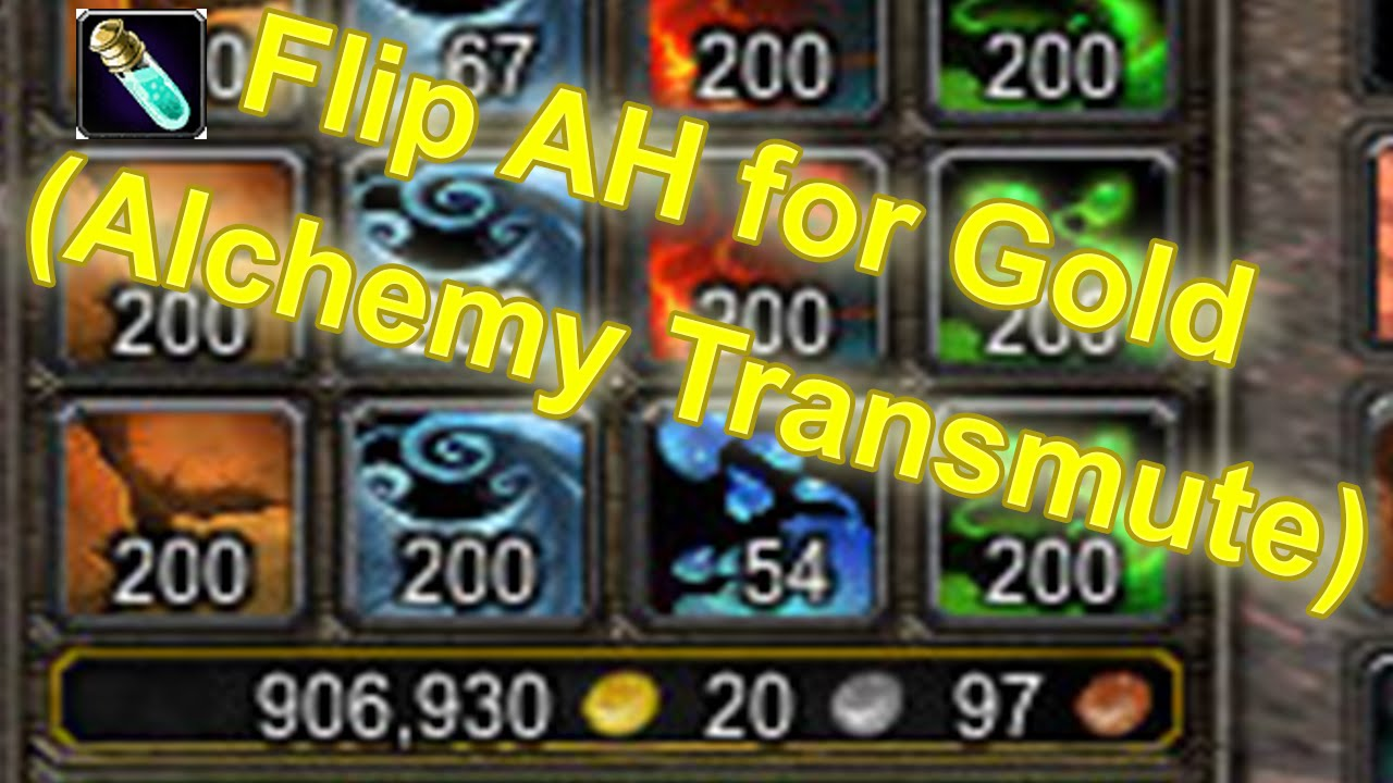 how to make money off alchemy wow