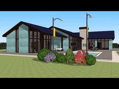 Проект одноэтажного коттеджа 200 м2 с гаражом и бассейном за 1.5 млн рублей #ростерн #дома