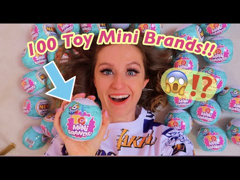 Unboxing 100 *NEW* Toy Mini Brands!!😱✨*INSANE RARE MYSTERY FINDS!!*🤯 (asmr vibesss)