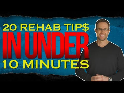 Cody Sperber's top home rehabbing tips in under 10 minutes!