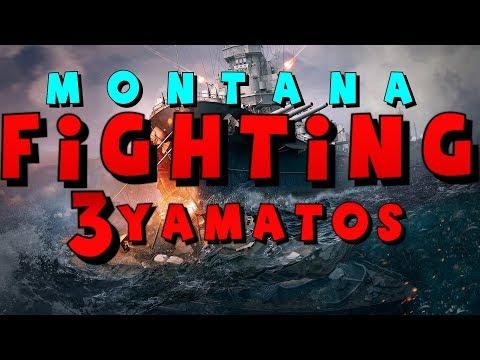 Montana vs 3 Yamato || World of Warships