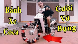 PHD | Thí Nghiệm Vui Thay Lốp Xe Máy Bằng Chai Coca | Replace Motorcycle Tires With Cocacola bottles