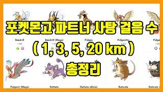 [포켓몬고 팁] 파트너 사탕 걸음수 총정리 ( 1km,…