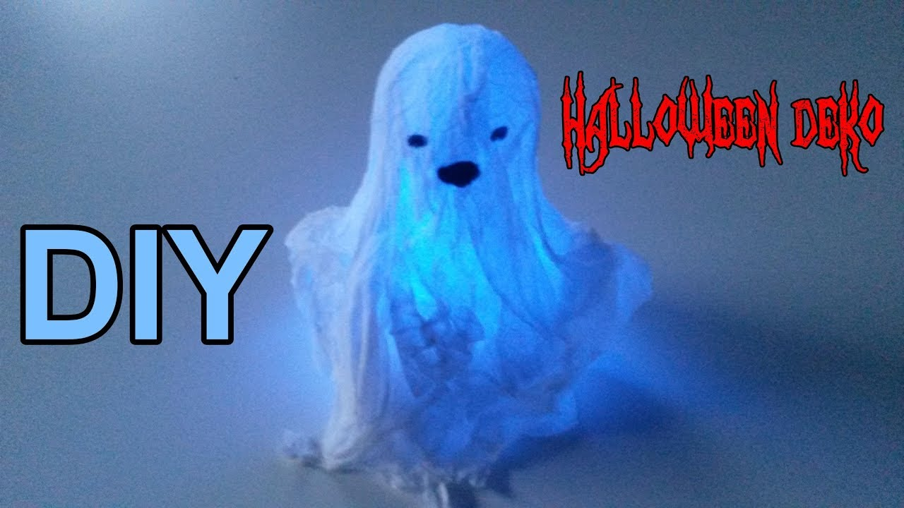 Beleuchtete Gespenster Selber Machen Diy Mini Halloween Geister Selbst Basteln Deko