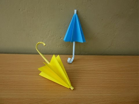 How To Make A Paper Umbrella Rainy Season Easy Tutorials Youtube