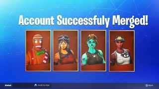 So I received my Fortnite account merge Skins...