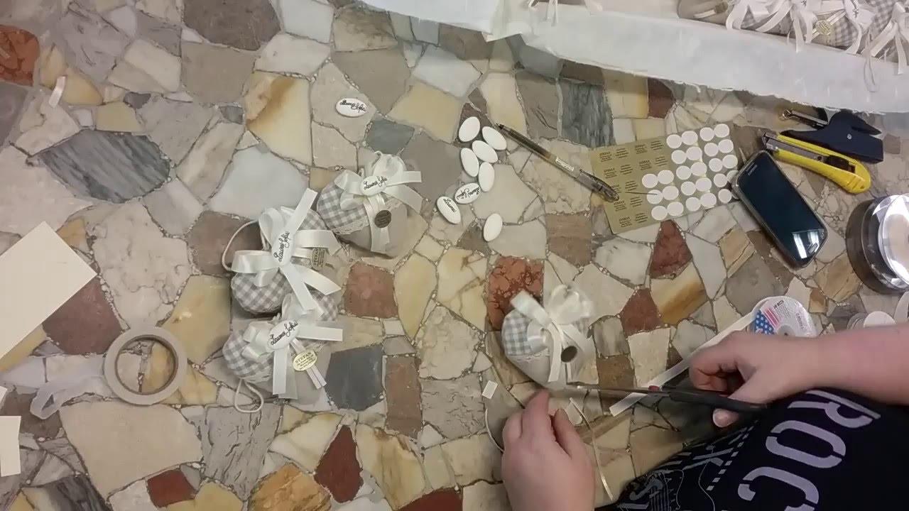 Amato BOMBONIERA Sacchettino di confetti con cuore di stoffa - YouTube LS97