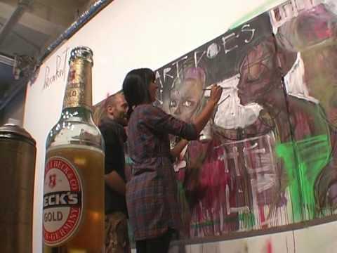 Herakut live painting 08.10.09 Project Room  Berlin - Good Quality