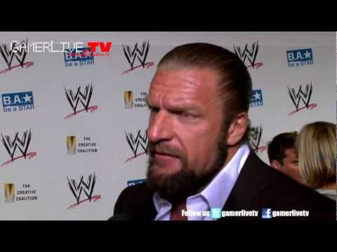 WWE Wrestling Legend HHH Triple H Talks Brock Lesnar, SummerSlam And WWE 13 Game