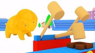 Lerne Farben mit bunten Ballons, Dina und Dino den Dinosauriern   Lehrreiche Cartoons für Kinder