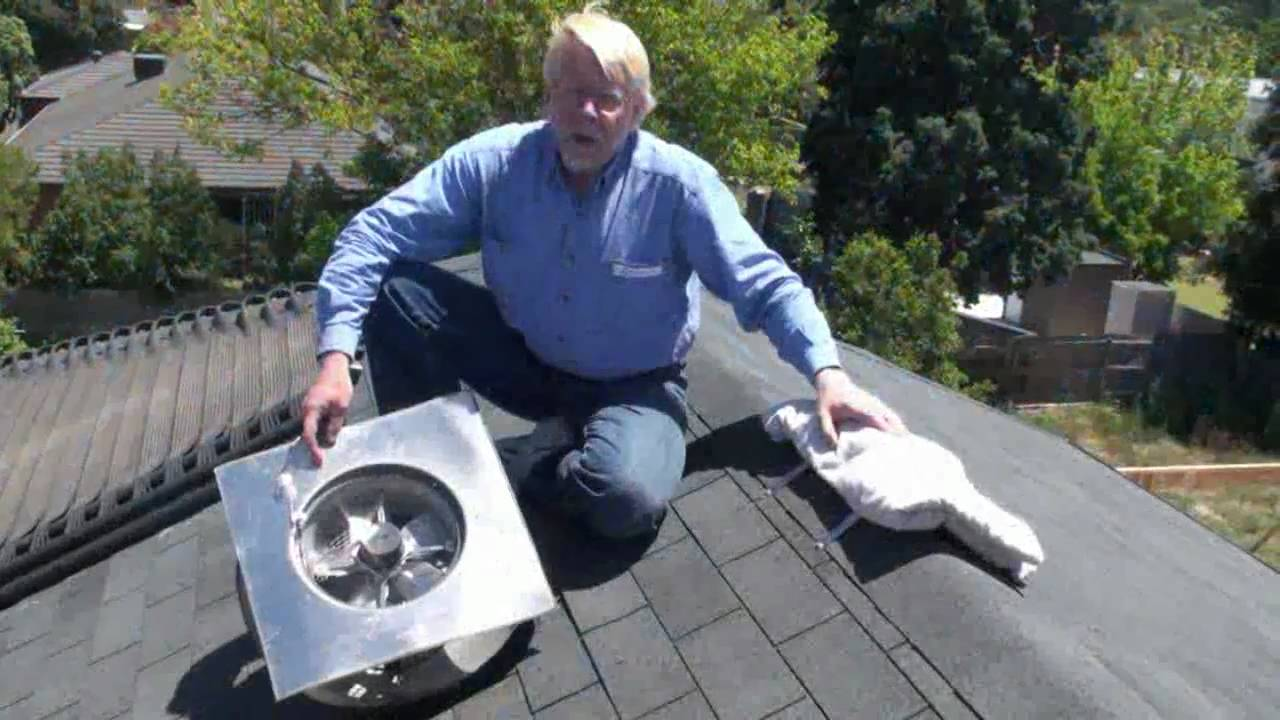 Good ECOsparks Solar Powered Roof Vent   YouTube