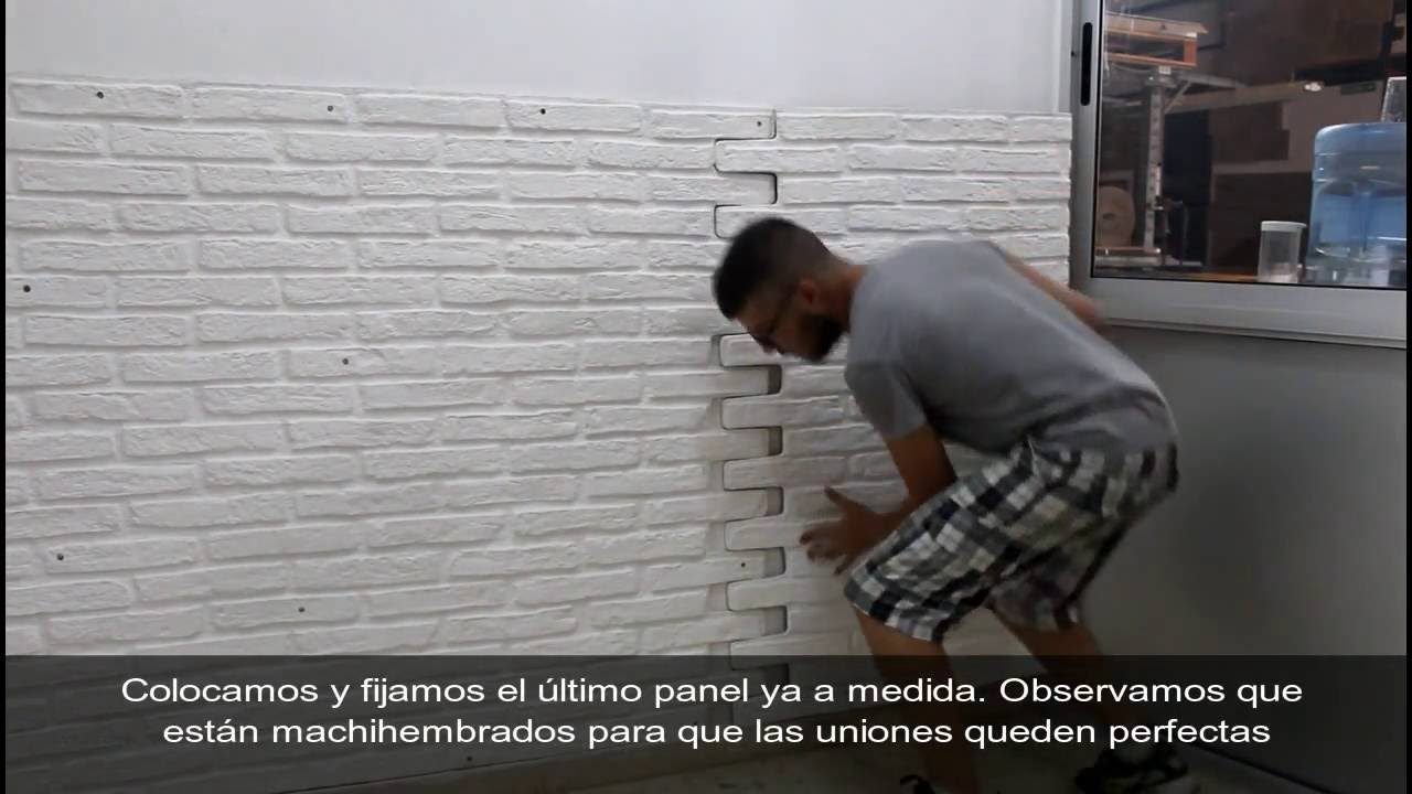 instalacin panel ladrillo rstico blanco xl paneldeco youtube - Pared Ladrillo Blanco