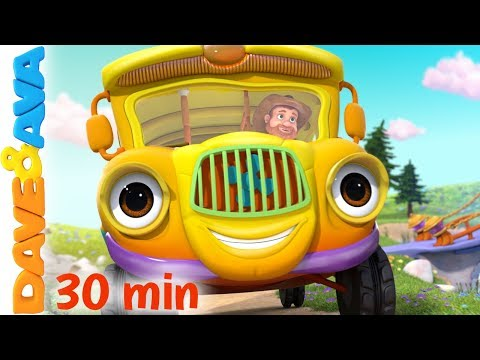 🚌 Wheels on the Bus Song & More Nursery Rhymes from Dave and Ava 🚌