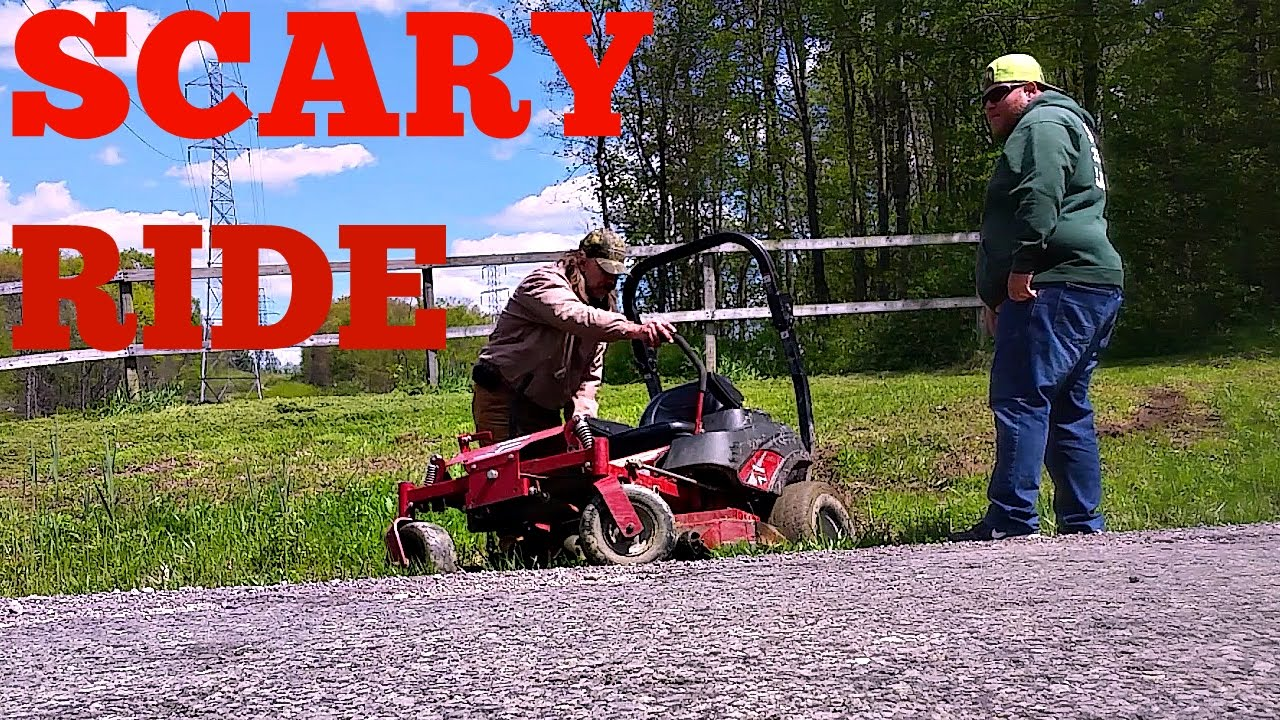 Lawn Mower Crashes Zero Turn Scary Ride Youtube