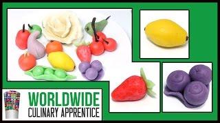 Marzipan - Lemon - Strawberry - Blueberries - Marzipan Fruits - Garnishes - Cake Decoration