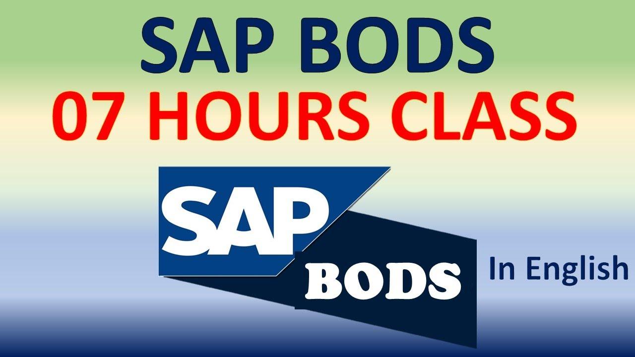 Download SAP BODS Tutorial    SAP BO Data Services (BODS) Training Module    SAPTube