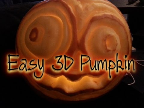 Halloween Tutorial 3d Pumpkin Carving Easy Youtube