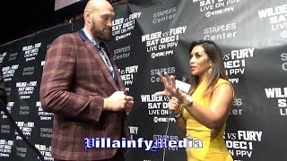 (LOL) TYSON FURY MACKS ON REPORTER & GETS TURNED DOWN; I'M 4-0 ON THE CARDS GOING INTO WILDER FIGHT