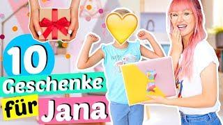 Meine 7jährige Nichte JANA bekommt 10 Überraschungen 🎁| ViktoriaSarina