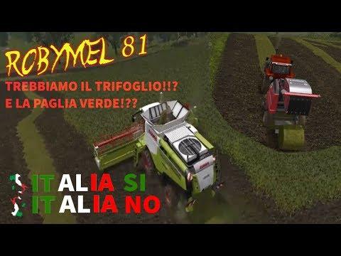 Farming Simulator 17- ITALIA SI ITALIA NO - 01-Trebbiamo il trifoglio!!?Paglia verde!??