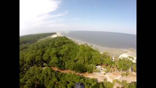 Hunting Island Lighthouse Family Climb Filmed With Dji Phantom 2 GpPro Hero Sc