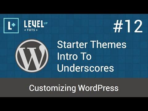Customizing WordPress #12 - Starter Themes - Intro To Underscores