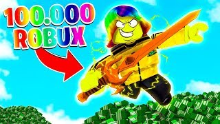 I bought INFINITE MULTIPLIERS with $100,000 ROBUX.. (Roblox)