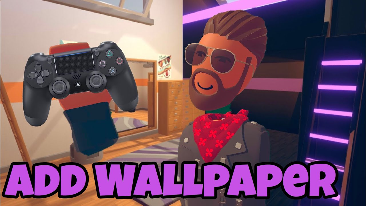 How To Add Wallpaper In Your Dorm Room | Rec Room Console