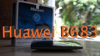 router huawei b683 dicoba test speed