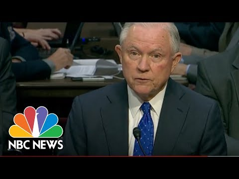 Sessions At Senate Hearing: Conversations With Trump Remain Confidential | NBC News