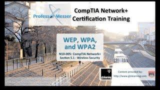 Understanding WEP, WPA, and WPA2 - CompTIA Network+ N10-005: 5.1