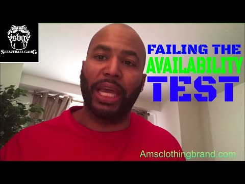 How To Rebound After Failing The Availability Test