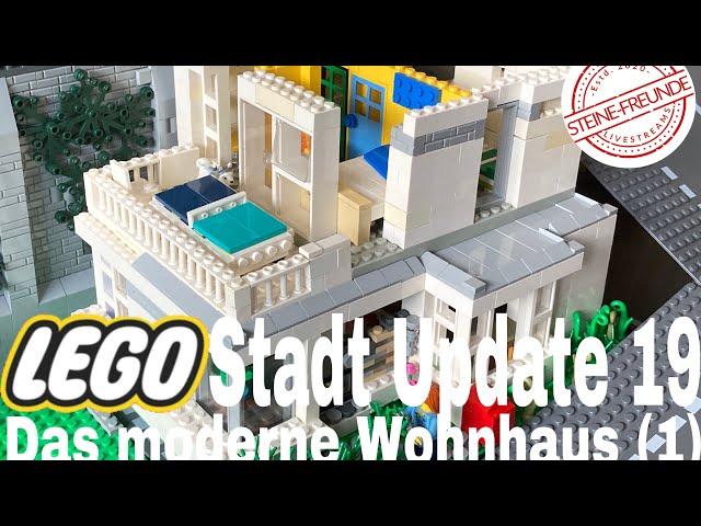 Lego Stadt Update 19/ Das moderne Wohnhaus (1)