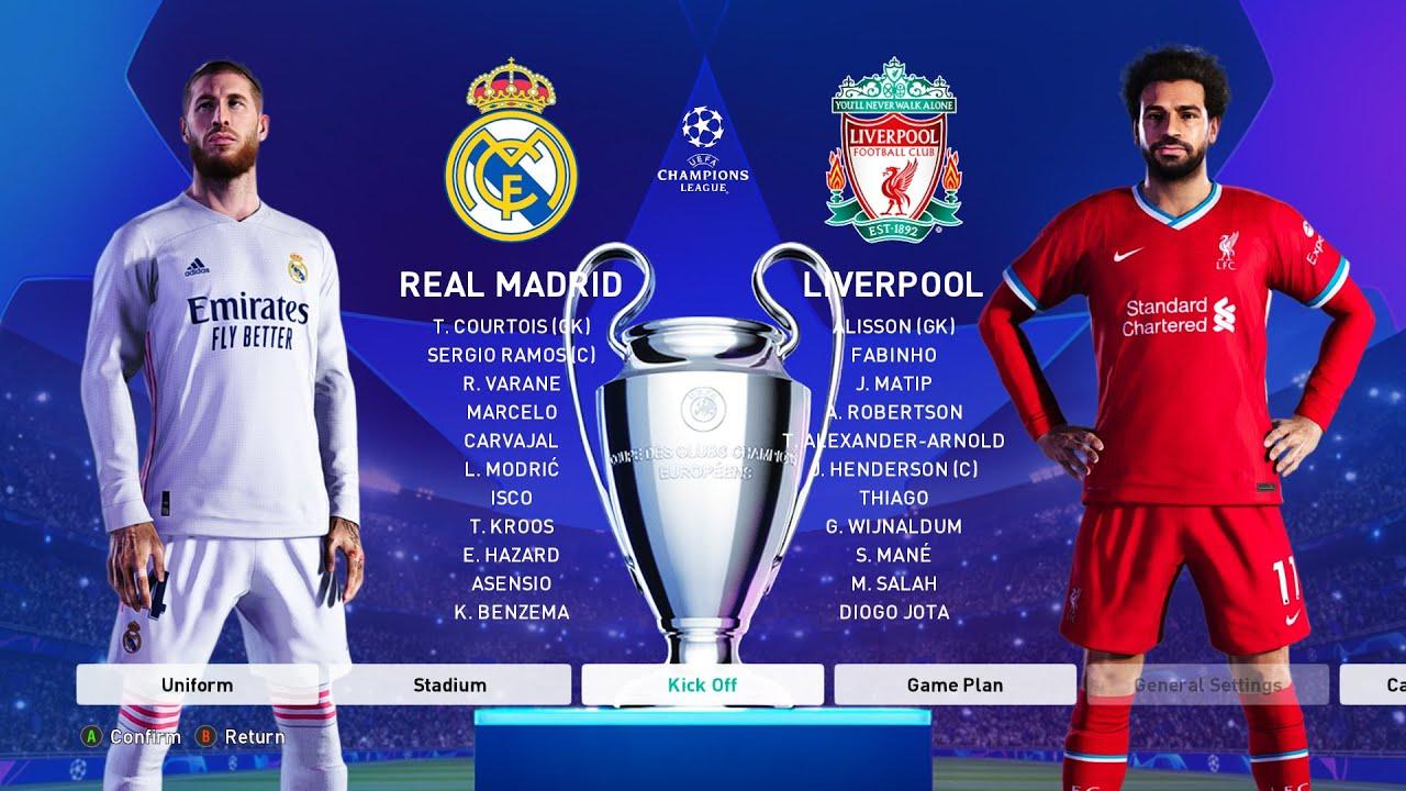 Real Madrid vs Liverpool (LEG 1) UEFA Champions League 2021 Gameplay -  YouTube