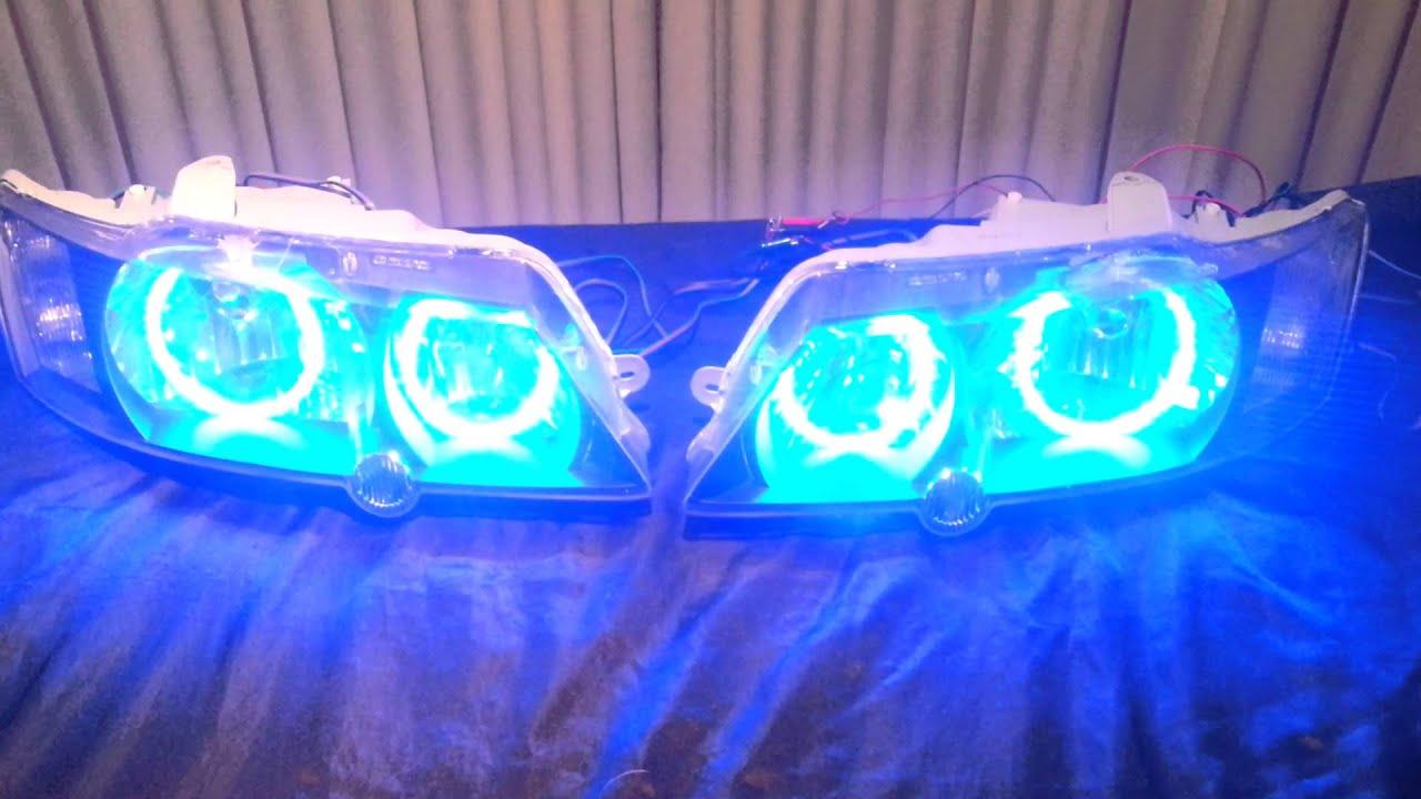 Holden Vy Ss Spectrum Angel Eye Headlights Youtube