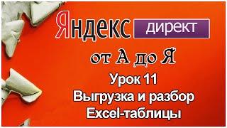Яндекс Директ. Урок 11.Выгрузка и разбор Excel таблицы из Яндекс Директ.