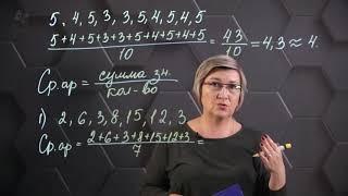 Среднее арифметическое нескольких чисел. 6 класс.