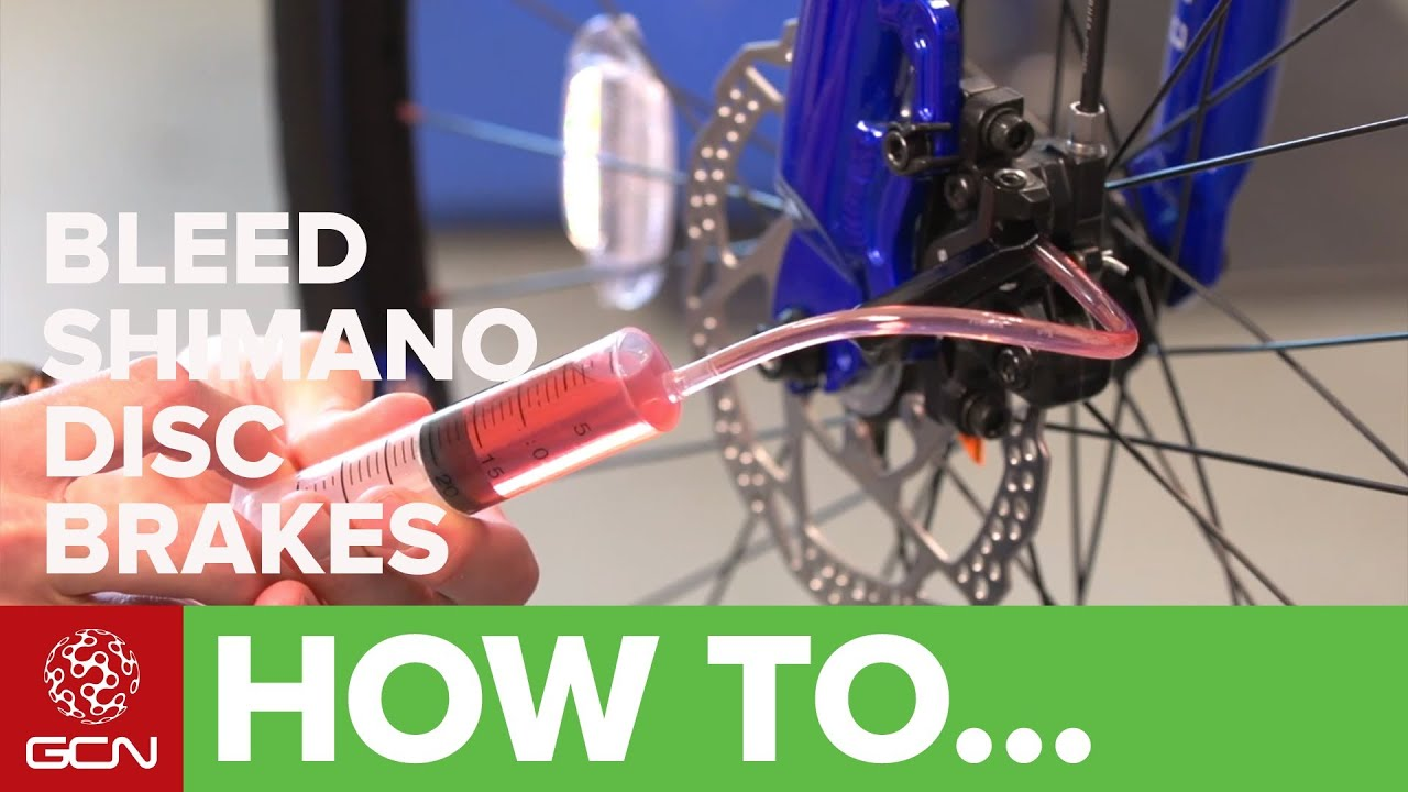 How To Bleed Shimano Hydraulic Disc Brakes Youtube
