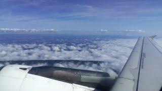 Air France A318 morning flight from Zurich to Paris CDG - parallel landing with A380!