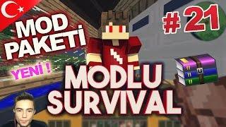 Minecraft Modlu Survival - Bölüm 21 - Yeni MOD PAKETİ !