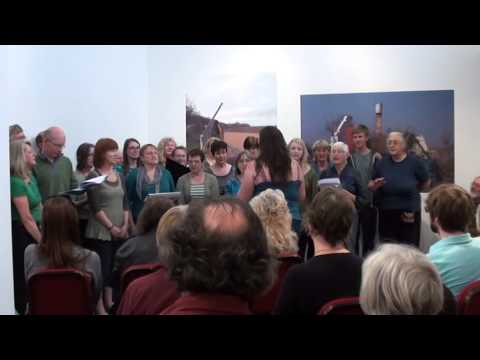 """Rising Voices singing """"Liverpool Street Station"""" at Folk Weekend: Oxford 2012"""
