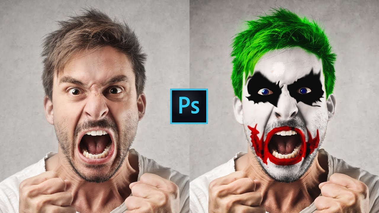 photoshop cc tutorial batman joker face transformation. Black Bedroom Furniture Sets. Home Design Ideas