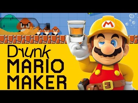 DRUNK MARIO MAKER - Super Mario Maker Gameplay