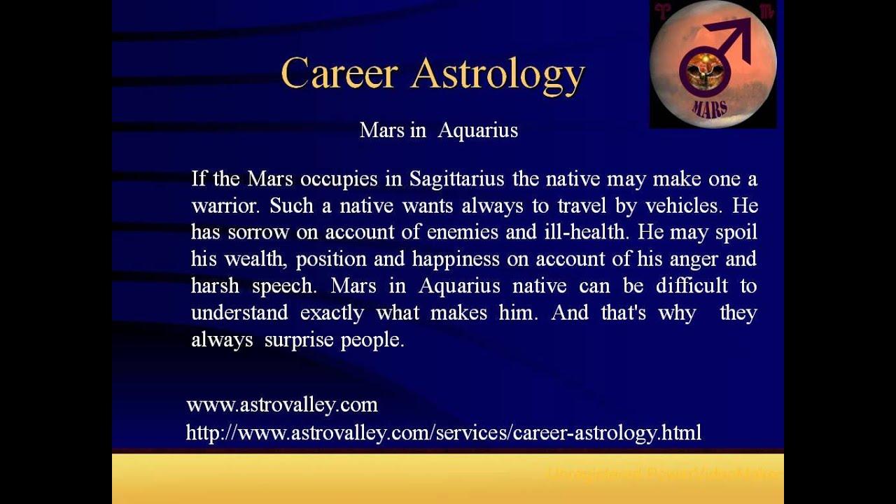 Career Horoscope: Mars in Aquarius