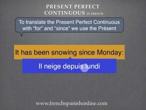 Present Perfect Continuous in French